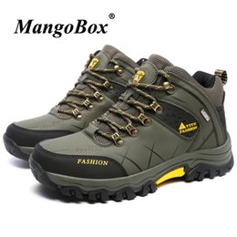 army green shoes Canada - Man Hiking Shoes Big Size 39-47 Mens Hunting Boots Spring Autumn Outdoor Sneakers Army Green Khaki Climbing Shoes For Male