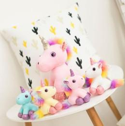 $enCountryForm.capitalKeyWord Australia - Unicorn Plush Doll Animals Stuffed Toys Pendant For Keychain Phone Handbag Christmas Bag Pendant Cartoon Keychains