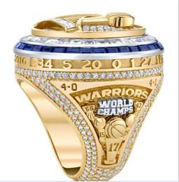 2017 2018 Warriors Championship anel Jóias Homens Fãs Coletar Lembranças MVP Durant anel de Dedo Atacado Alta quanlity AAA + transporte da gota venda por atacado