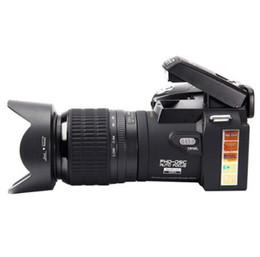Full Frame Camera UK - HD POLO D7100 Digital Camera 33 Million Pixels Automatic Focus Professional SLR Video Camera 24X Optical Zoom Three Lens MOQ:1pcs