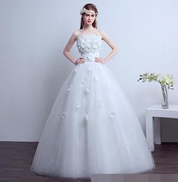 $enCountryForm.capitalKeyWord Australia - vintage Wedding Dress Elegant Flowers Lace 2018 Beading Appliques Vintage ball gown Bride dresses Robe De Mariage Plus Size