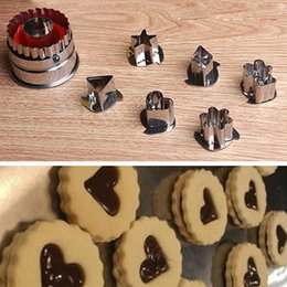 Pastry Cutters Australia - Wholesale- 7PCS Diy cooking cake cookies pastry cutter fruit vegetable slicer mold baking cooking mold tools sugarcraft cutter bakeware