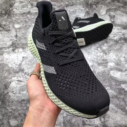 2018 Release Futurecraft 4D Ash Green Print 4D Runner CORE BLACK Man Woman Running  Shoes Authentic Sports Sneakers With Original Box B75942 4a4d0f68f