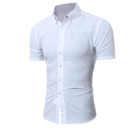 Double Shirt Designs Australia - Short-Sleeves Tops Double Collar Button Design 2018 Fashion Male Hawaiian Shirt Mens Dress Shirts Slim Men Shirt M-5XL