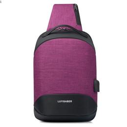 Single Shoulder Strap Packs Australia - New Fashion Crossbody Bags for Men Travel Messenger USB Chest Bag Pack Casual Bag Waterproof Oxford Single Shoulder Strap Pack