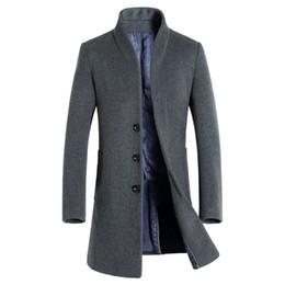 b4e01d1e0 NEW 2017 High Quality Mens Long Wool Trench Coat Korean Men Slim fit Trench  Parkas for Autumn