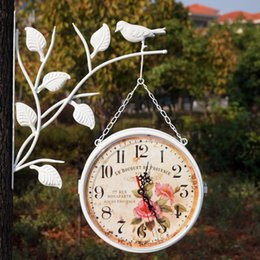 iron wall clock double sided watch digital wall clocks relogio parede vintage clocks duvar saatleri klokken relojes klok