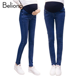 23757d16a7160 Fall Winter Maternity Jeans Pencil Pants for Pregnant Women Plus Size Belly  Care Trousers High Waist Maternity Clothes Clothing