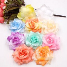 Shop artificial large silk flower wholesale uk artificial large 100pcs artificial flower large silk 2 color fire rose head for wedding decoration diy garland decorative floristry fake flowers mightylinksfo