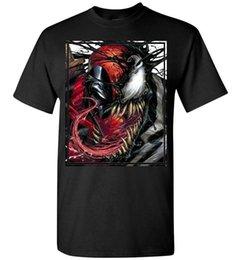Veneno vs Deadpool Gráfico Homens T Camisa de Impressão de Algodão de Manga Curta Moda Homens T Shirt Frete Grátis venda por atacado