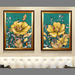 $enCountryForm.capitalKeyWord Australia - Scandinavian abstract oil painting rich luxury golden flower canvas posters and prints wall picture for living room home decor