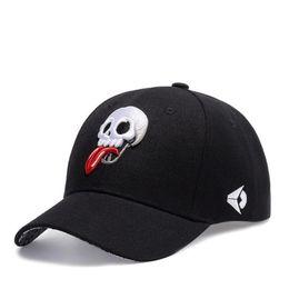 $enCountryForm.capitalKeyWord Canada - Hip Hop Embroidery Skull Baseball Cap Adjustable Black Men Women Baseball Caps Hiphop Skeleton Summer Outdoor Leisure Sun Hats Drop Shipping