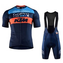 Bikes sportswear online shopping - 2018 KTM Men summer Cycling Jersey Breathable Bicycle Clothes Ropa Ciclismo Bike Bib Shorts Set Sportswear clothing C1001