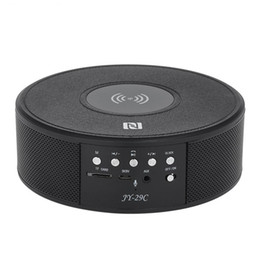 bluetooth speaker screen UK - Portable Bluetooth Speaker JY-29C Wireless Charging Digital screen display Stereo Sound Speakers Support Time Displayer Radio TF Card NFC