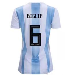 2018 Argentina women jersey Messi DYBALA DI MARIA 18 19 Argentina world cup  home Away girls AGUERO ICARDI TEVEZ Football Shirts AGT e45bbe9e9