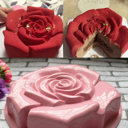 different shapes cake 2019 - Different Color High Quality Rose Shape Silicone Cake Mould Chocolate Pudding Mold Kitchen DIY Cake Baking Pan Tools CT1