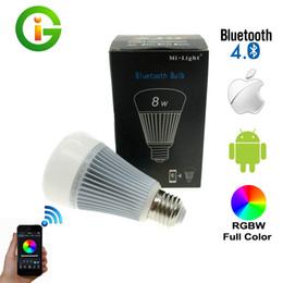 Control Lights Ios NZ - Mi-Light Bluetooth 4.0 Bulb 8W E27 AC85-265V Full Color Smart LED Light with IOS Android APP Control.