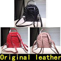 Original backpacks online shopping - Marmont Backpack Designer Backpack high quality Luxury Handbags Famous Brands bags Real Original Cowhide Genuine Leather Luxury Backpack