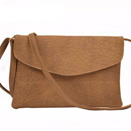 new Women Leather Envelope bag Shoulder bags Thread Plaid Ladies Crossbody Messenger  bags Satchel Handbags Women bag Purses 483ead3fd294c