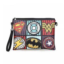 $enCountryForm.capitalKeyWord Australia - Rock Style Rivet Clutch Bag Exquisite Punk Handbag Women Envelope Bag Luxury Leather Superhero Shoulder Bags