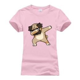 Tee-shirt femme en coton T-shirt Harajuku Tops Tee Shirt Femme Mignon Dabbing Pug T Shirt Femmes Manches Courtes 2018 Summer Hip Hop Camisetas en Solde
