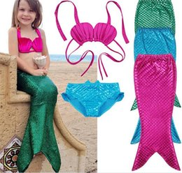 $enCountryForm.capitalKeyWord Australia - 50set Girls Bikini Mermaid Tail Swim Suit Dress Infant Kids Swimsuit Swimwear Bathing Suits Summer Costumes set Y206