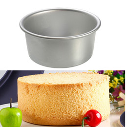 pan sizes UK - Wholesale- High Quality Protable Size 4 inch Round Cake Muffin Pan Tin Baking Bread Mould Tools Fr Birthday Party