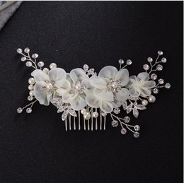 Hair For Weddings Hairstyles NZ - Korean Flower Hair Combs Wedding Hair Accessories 2018 Hairstyles Bridal Headpieces for Women Fascia Capelli Accessoire Cheveux Wholesale