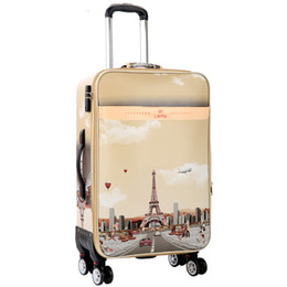 ff8be26544 Tower pattern Rolling Luggage Spinner 26 inch password Trolley 28 inch large  capacity Suitcase Wheels 20 Cabin Travel Bags