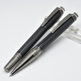 Writing Pens Australia - Top grade Black Gray resin Rollerball pens PVD-plated Fittings and brushed surfaces stationery supplies Monte brands writing Ballpoint pens