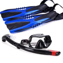 $enCountryForm.capitalKeyWord NZ - Diving Swimming Scuba snorkeling kit with fins Snorkel diving Mask Lens PC Flippers M L XL Gear Kit