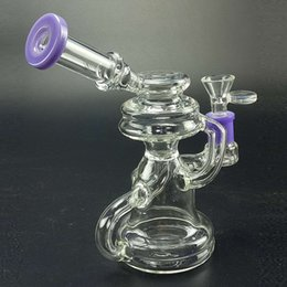 $enCountryForm.capitalKeyWord NZ - 5 Colors Dab Rigs Klein Recycler Rig Water Bong Dab Oil Rigs Water Pipes Cyclone Vortex Bubbler 7 inches Thick Perc Smoking Glass Bongs 14mm