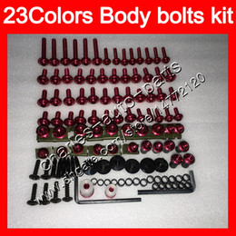 China Fairing bolts full screw kit For HONDA CBR1100XX Blackbird 1100XX 2002 2003 2004 2005 2006 2007 96-07 Body Nuts screws nut bolt kit 25Colors cheap honda blackbird fairing kits suppliers