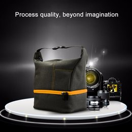 dslr cameras bags UK - HUWANG Portable Waterproof Scratch-proof Abrasive Material Outdoor Sports Sling Shoulder Bag Handbag DSLR Camera Bag