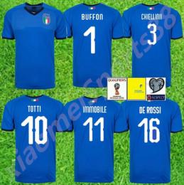 2efbbd974 2018 Italy World Cup Jersey INSIGNE ZAZA EL SHAARAWY PIRLO MARCHISIO De  Rossi Bonucci Verratti Buffon Custom Italia Soccer Football Shirt