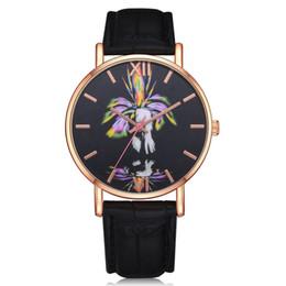 blue planet watch 2019 - GENBOLI 2018 New Men Women Watch Leather Quartz Wrist Watch Fashion Planet Jupiter Birthday Gift Planet Mars Print Dial