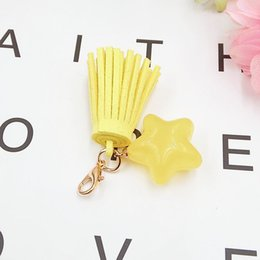 Wholesale 2018 New Arrival Candy Pendant DIY five pointed star fringed ornament material mobile phone shell jewelry
