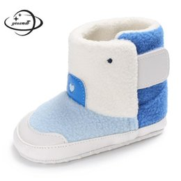 328b875ec5c96 YAUAMDB baby snow boots 2017 winter autumn size 11-13 boys girls kid add  wool cotton shoes high top non-slip cartoon footwear 24