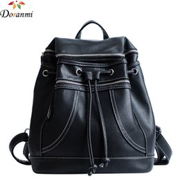 83d502245eb8 Backpack closures online shopping - Classic Black Women Backpack Luxury  Brand Designed Solid Schoolbag Traveling PU