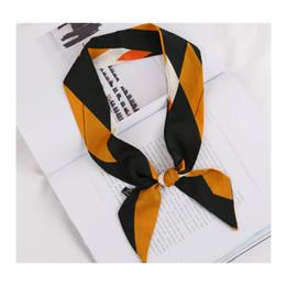 2019 модный бренд дизайнер супер мягкое качество ленты атласный шелковый шарф многофункциональный мода тюрбан галстук-бабочку сумка слинг
