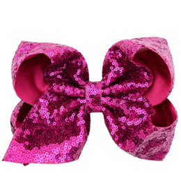 baby girl barrettes UK - JOJO SIWA 8inch LARGE baby Hair Clip Bows Hair Bow girls Hairpins kids Hair Accessory Toddler Headwear