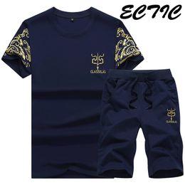 Mens Blue Shirt Black Pant Canada - 2018 Brand Sportsuit Running Set Mens Breathable T-Shirt + Short Pants Men Summer Quick Dry Blue Tracksuit Men Tee Shirts