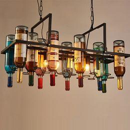 $enCountryForm.capitalKeyWord NZ - Retro wine bottle led pendant chandeliers lamps for bar club hotel restaurant use creative artistic rectangle pendant lights include bulbs