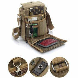 vintage military canvas shoulder bag Australia - High Quality Vintage Multifunction Canvas Men Shoulder Crossbody Bags Male Travel Small Casual New Men's Messenger Bag Military
