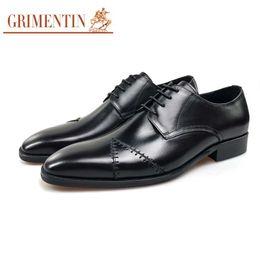 $enCountryForm.capitalKeyWord NZ - GRIMENTIN Hot sale brand mens dress shoes Italian fashion men oxford shoes genuine leather black brown wedding office formal mens shoes JM