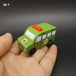 $enCountryForm.capitalKeyWord NZ - Exquisite Small Ambulance Military Vehicle Wooden Car Model Toys Kids Child Learning Educational Teaching Prop Gadget