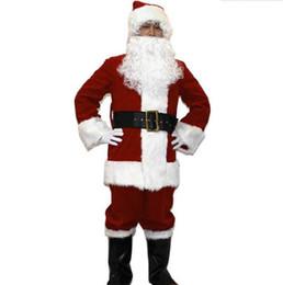 santa claus costumes adult 2019 - Plus size 3xl Santa Claus tunics Popular Christmas father costume adult Santa Claus Christmas dress costumes Night club