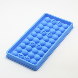 Silicone mini ballS online shopping - New Design Ice Tube Tray Mini Cavity Silicone Cube Spherical Mold Chocolate Ice Lattice Wine Ice Ball Mold Inch