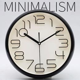 Discount reloj pare - Fashion Simple Wall Clock Modern Design 3D Quartz Silent Wall Clocks Digital Decorative Reloj Pared Watch Klok Time Tool