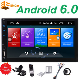 wifi speakers NZ - EinCar Android 6.0 Quad Core Car Stereo Double Din Head Unit 7'' Touch Screen GPS Navigation Bluetooth Autoradio WIFI AUX USB FM